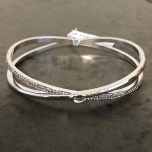 COACH Silver Criss Cross Bangle